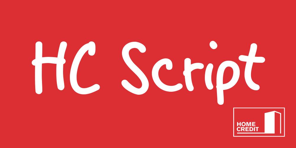 HC Script: Custom Typeface