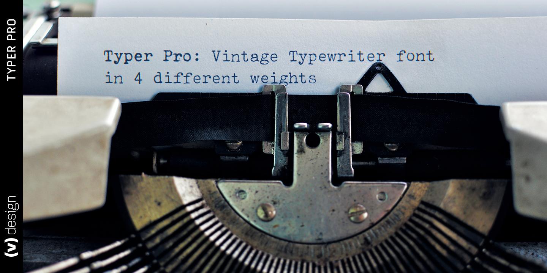Typer Pro, typewriter font family