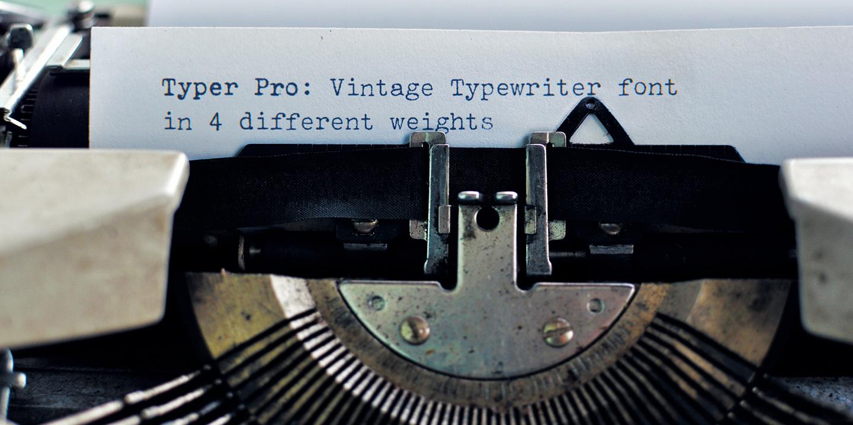 Typer Pro: Font